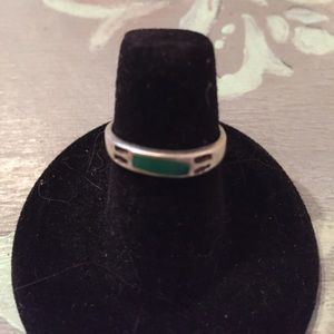 Turquoise sterling silver ring size 5 1/2